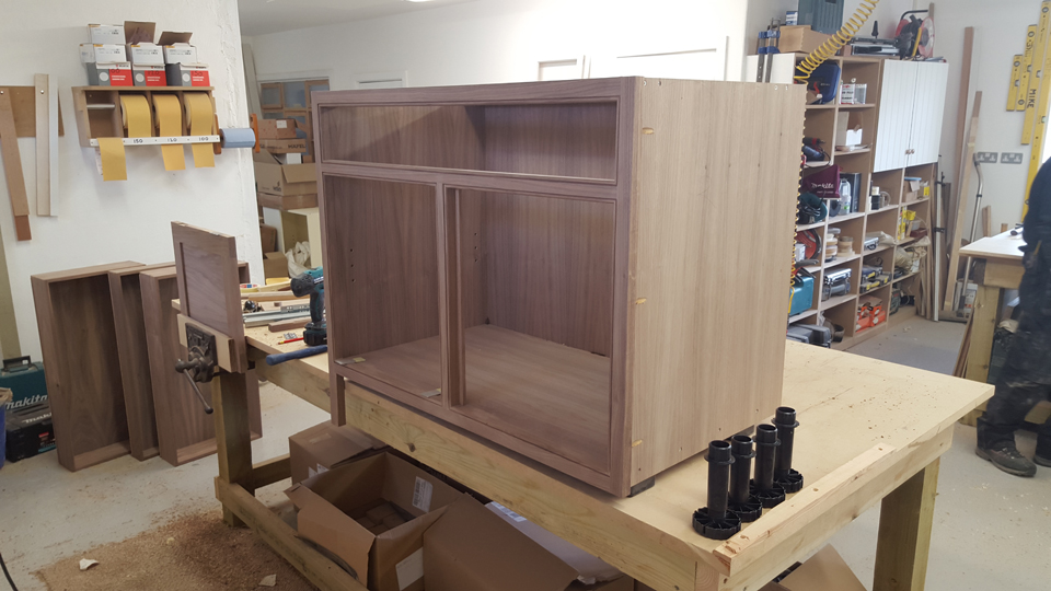 bespoke kitchen, furniture manufacture, walnut unit