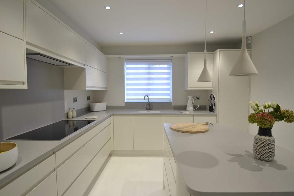 modern kitchen bi folding cupboards