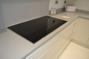 modern kitchen miele induction hob