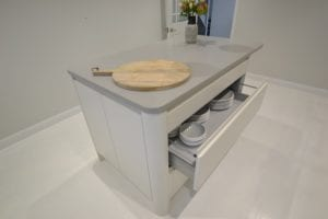 modern kitchen unit with drawers