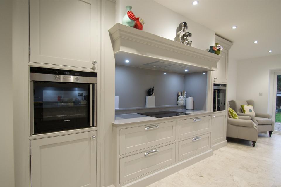 hand painted grey kitchen
