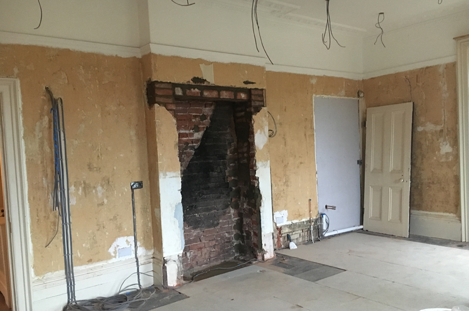 Georgian house fireplace refurbishment