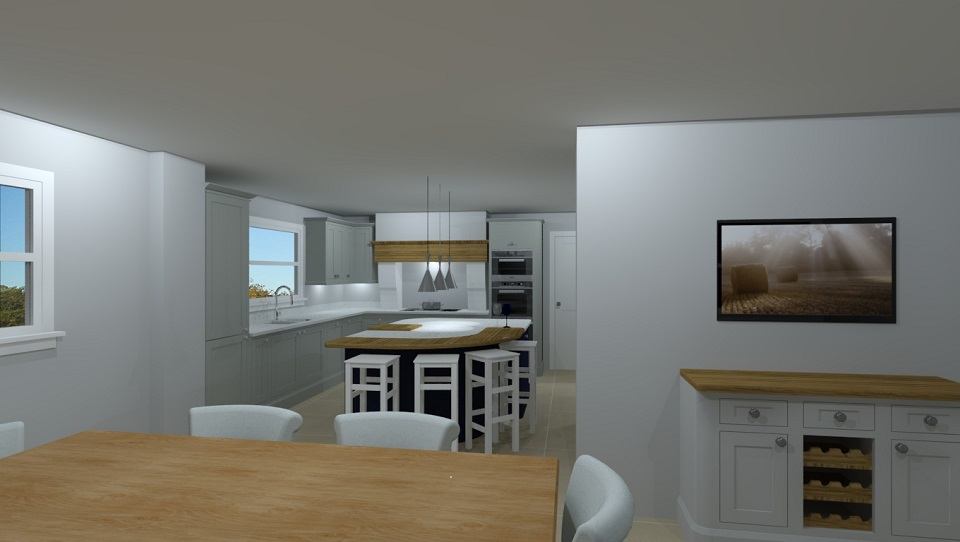 CAD image of kitchen